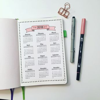 Planning for the New Year in your Bullet Journal