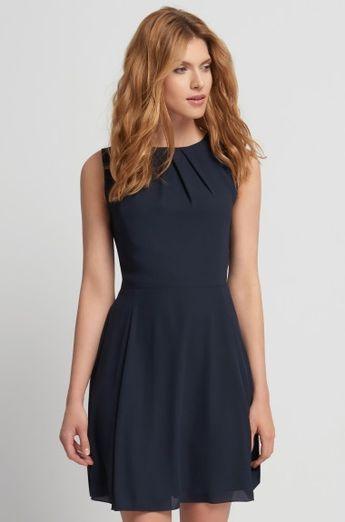 981157d04f Drapírozott ruha csipke applikációval