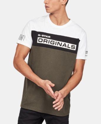 6a78ac52833 G-Star Raw Men s Originals Colorblocked Logo Graphic T-Shirt