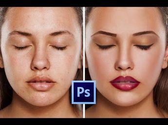 Photoshop CC Учебник: как ретушировать кожу и сделать макияж легко - YouTube