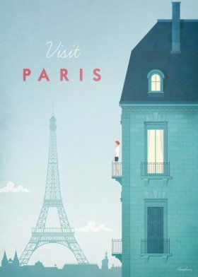 Paris by Henry Rivers | metal posters
