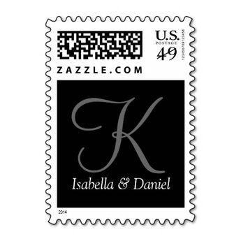 Wedding Invitations Postage Stamp   Zazzle com