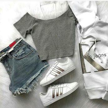 Short con Camiseta gris