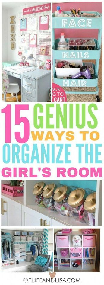 15 Gorgeous Ways to Quickly Organize the Girls' Room