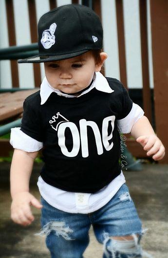 1st Birthday Boy First Shirt One Year Old