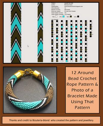 15 Around Bead Crochet Rope Pattern And Photo Showing A Ne