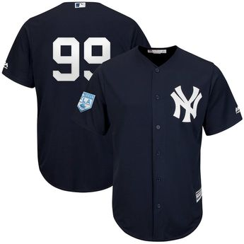 827e430c1 Men s New York Yankees Aaron Judge Majestic Navy 2019 Spring Training Cool  Base Player Jersey
