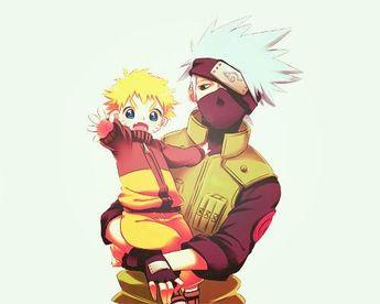 ANBU Kakashi and young Naruto  #fanart