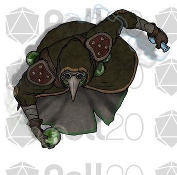 f Townsperson npc Cloak token roll20