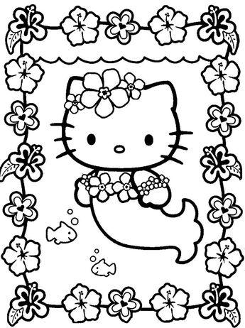 Hello Kitty Kleurplaten A4.Hello Kitty Chef