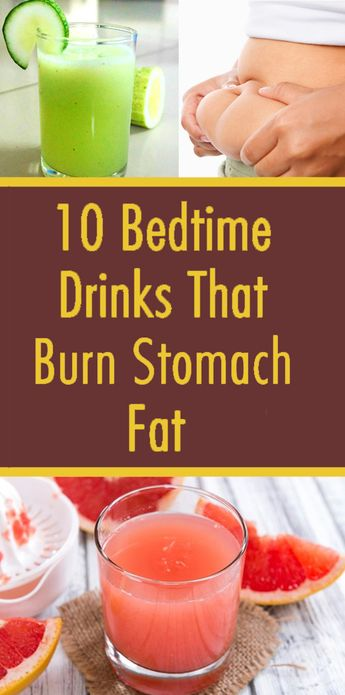 10 Bedtime Drinks That Remove Belly Fat