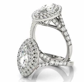 3 83 carats tw pear shape diamond engagement and wedding ri