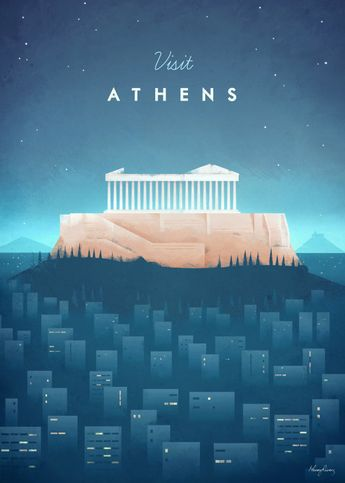 Athens by Henry Rivers | metal posters