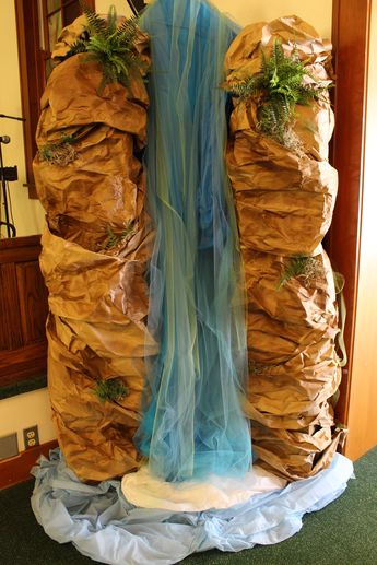 DIY Waterfall for Shipwrecked VBS