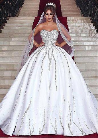 6e1e5516f9 Ball-Gown Sleeveless Brilliant Sweetheart Beading Wedding-Dresses Bridal  Gowns Item Code  CD0021