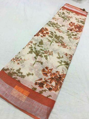 c3598939cf Pure Lenin digital print sarees Price:3899 Order what's app 7995736811