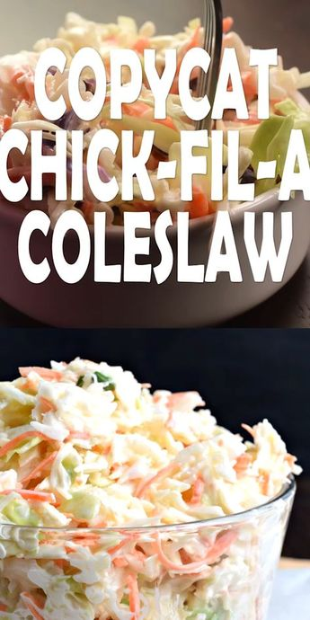 If you're looking to make the very best coleslaw recipe, this copycat Chick-fil-A Cole Slaw is made for you! #potlucks #coleslaw #chickfila