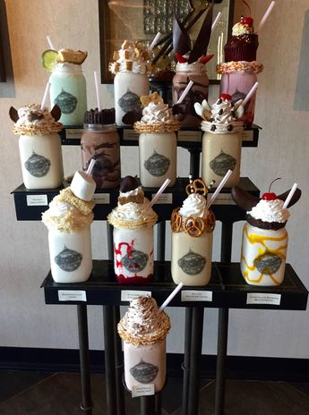 Your ultimate picture guide to Toothsome Chocolate Emporium's milkshake menu