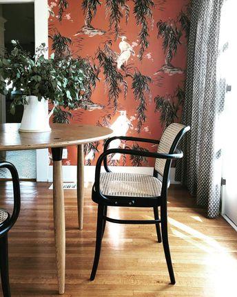 "Martha Mulholland on Instagram: ""Sitting pretty @jaceyduprie . . . . #interiordesign #wallpaper #historichome"""