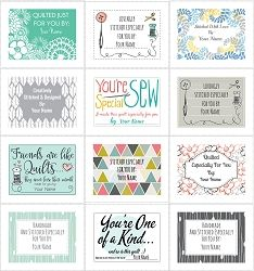 photograph regarding Printable Quilt Labels called Producing Quilt Labels