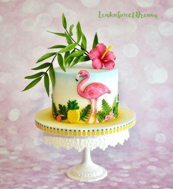 Tropical birthday cake.