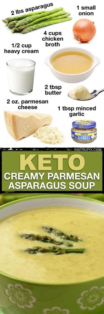 Low Carb Creamy Asparagus Soup (7 Easy Keto Soup Recipes)