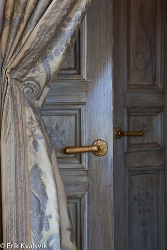 Upcoming Book on Fortuny Interiors | fortuny.com Love the shade and the exquisite fabric.
