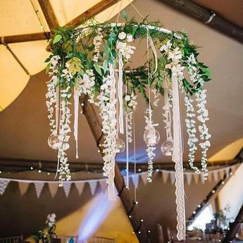 Inspo day - feeling this. A hula hoop some ribbon some lace and a trip to the flower market. Add baubles as required.