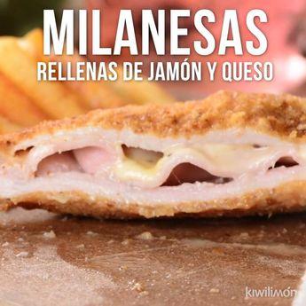 Milanesas Rellenas de Jamón y Queso