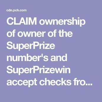 Publishers Clearing House Absolute I am RRojas actnow Claim