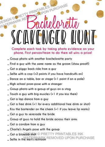 image about Printable Bachelorette Scavenger Hunt identified as Bachelorette Scavenger Hunt - Bachelorette Social gathering Online games - P