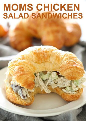 Mom's Chicken Salad Sandwiches