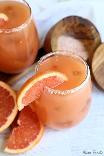 The Salty Dog drink is a simple spin off of the Greyhound cocktail, but with the addition of salt. It has long been a favorite of dieters and since it is easy to make and
