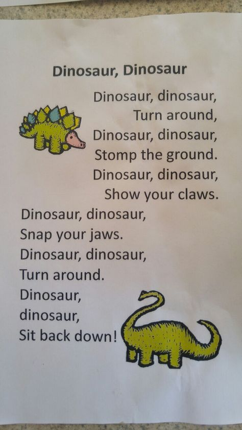 Dinosaur song for kids
