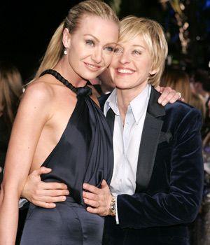 Portia De Rossi & Ellen De Generes