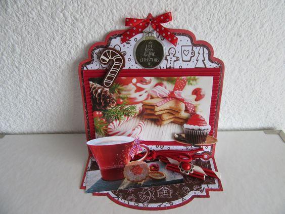 challenge 21 bij 2 Sisters on the Blog/Kerstkaart met plaatje koekjes/Sylvia H.