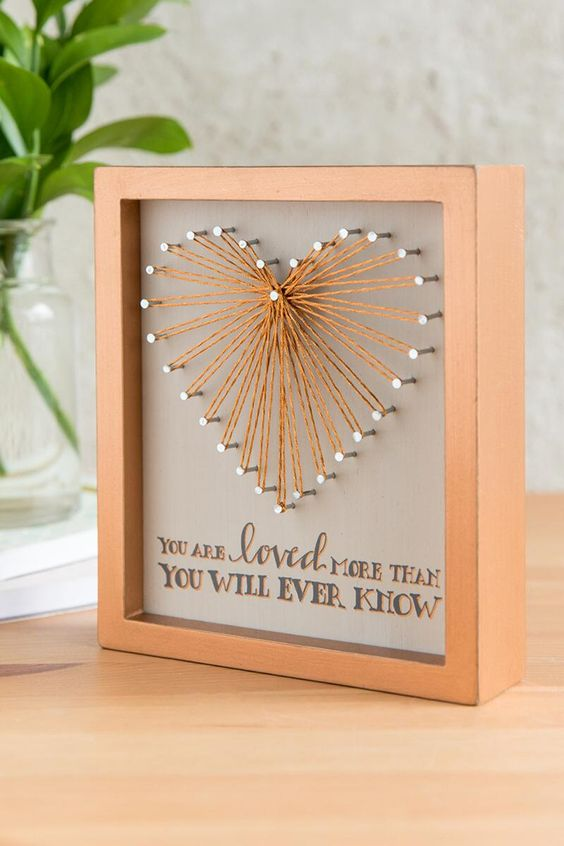 Loved String Heart Box Sign- gift-clalternate