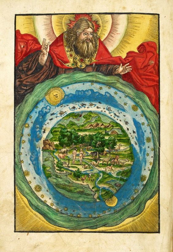 From the Magnificent Maps blog post 'Mapping Paradise'. Image: The Garden of Eden, from Biblia, das ist, die gantze Heilige Schrifft Deudsch [Wittenberg: Hans Lufft, 1536]