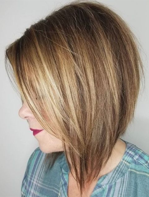 Steeply Angled Layered Bob Hairstyles Ideas for 2018 – 2019