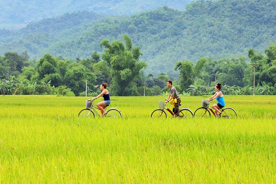 Cycling in Mai Chau