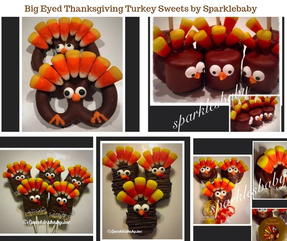 Big Eyed Thanksgiving Turkey Sweets by Sparklesbaby
