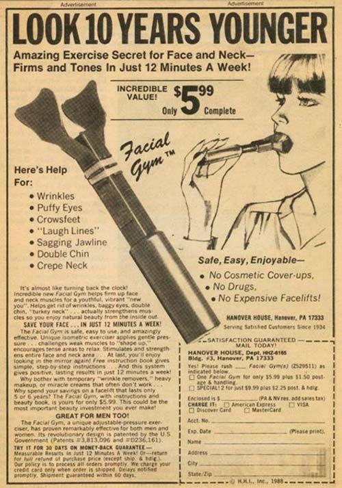 Face Excersier – Strange Weird Vintage Products & Ads