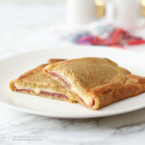 5-Ingredient Breakfast Pockets - Ham & Cheese (low-carb, primal)
