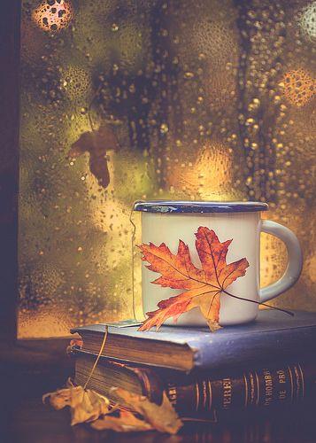 Books, tea and rain drops   Rosana   Flickr