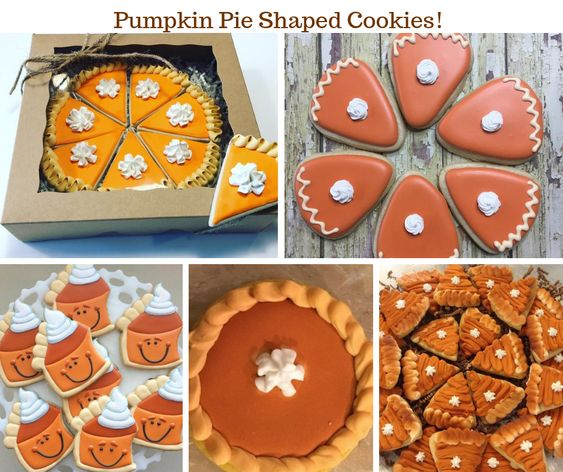 Pumpkin Pie Shape Cookies