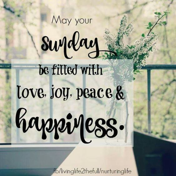 May your Sunday be filled with love, joy, peace &amp; happiness <img src=
