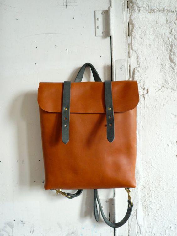 mochila bolsa de miel y pizarra por fluxproductions en Etsy