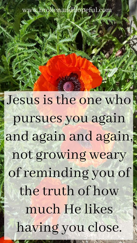 Do you ever struggle with the identity lie of being unwanted? Jesus is the one who pursues you again and again.