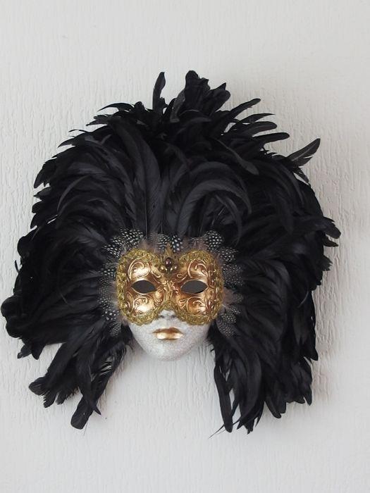Online veilinghuis Catawiki: Venetiaans masker - Gips / Veren / Goudkleurig beslag