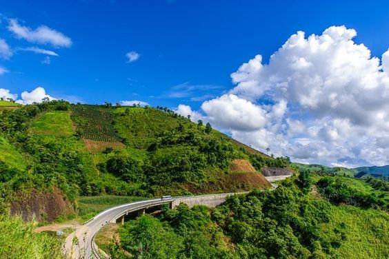 Pha Din mountain pass, Dien Bien province, Vietnam